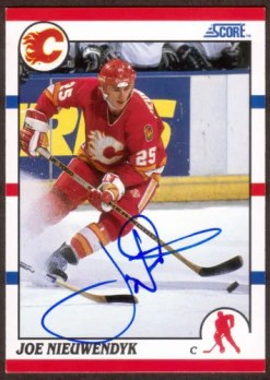 11-12 Score Joe Nieuwendyk Recollection Collection Autograph