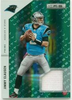 2011 Panini Rookies & Stars Emerald Prime Jimmy Clausen Jersey Card