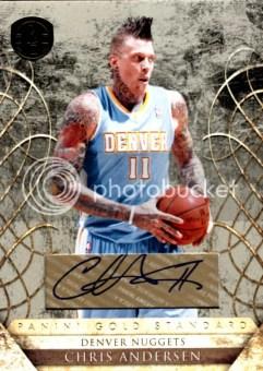 2010/11 Panini Gold Standard #129 Chris Andersen Autograph Serial #/25