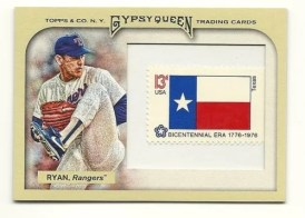 2011 Topps Gypsy Queen Nolan Ryan Stamp Relic /10