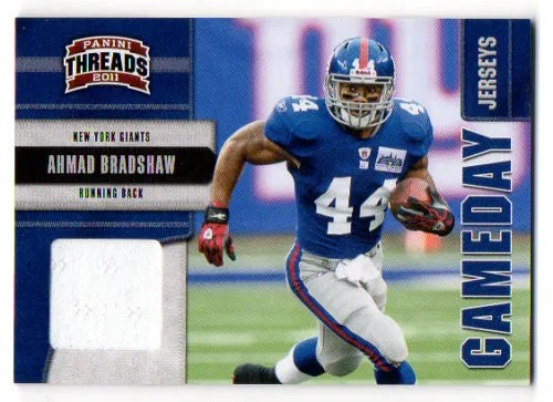 2011 Panini Threads Game Day Jersey #2 Ahmad Bradshaw #/290