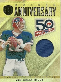 2011 Panini Gold Standard Golden Anniversary Jim Kelly Jersey Card