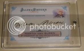 2011 Topps Allen & Ginter Martin Van Buren Cut Autograph