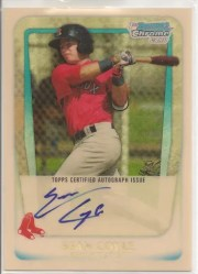 2011 Bowman Chrome Superfractor 1/1 Sean Coyle Auto