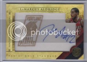 2010-11 Panini Gold Standard LeMarcus Aldridge Autograph