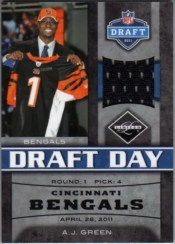 2011 Panini Limited A.J. Green Draft Day Jersey