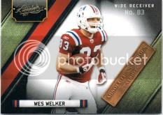 2011 Absolute Heroes Wes Welker Insert