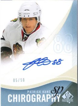 2010-11 Sp Authentic Patrick Kane Autograph Chirography #/50