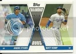 2011 Topps Diamond Duos Andre Eithier Matt Kemp