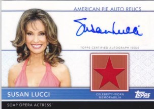 2011 Topps American Pie Susan Lucci Autograph Relic Card