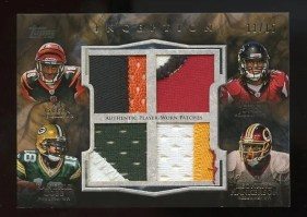 2011 Topps Inception Quad Patch Rookie Cards