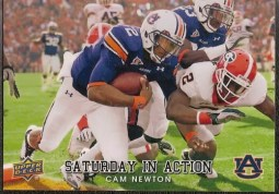 2011 Upper Deck Cam Newton Saturday In Action Rookie RC