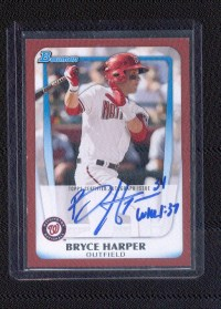 2011 Bowman Bryce Harper Red Auto Parallel 1/5