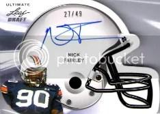 2011 Leaf Ultimate Nick Fairley Helmet Autograph