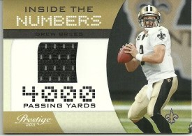2011 Prestige Drew Brees Jersey Inside the Numbers