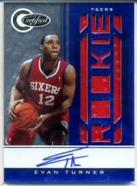 2010-11 Certified Evan Turner Blue Autograph RC