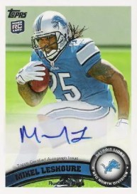 2011 Topps Football Mikel LeShoure Autograph RC Card