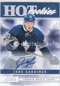 2011-12 Panini Score Hot Rookies Jake Gardiner