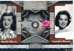 2011 Panini Americana Co-Stars Bettie Davis - Natalie Wood