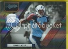 2011 Panini Absolute Randy Moss Patch Jersey