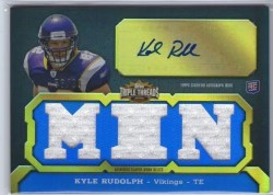 2011 Topps Triple Threads Kyle Rudolph Autograph Rookie RC
