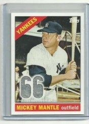 2011 Topps Update Mickey Mantle Relic