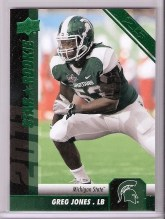 2011 Upper Deck Football Greg Jones 25 Stripe RC Card Redemption