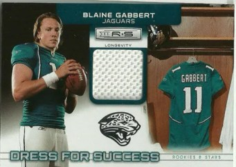 2011 Panini Rookies & Stars Dress For Success Blaine Gabbert Material Card