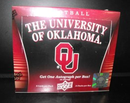 2011 Upper Deck University of Oklahoma NCAA Football Box