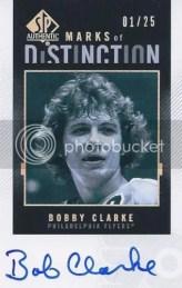 2010-11 UD SP Authentic Bobby Clarke MOD AUTO /25