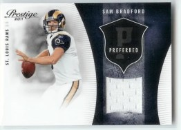 2011 Prestige Sam Bradford Preferred Jersey /250