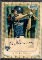 2011 Bowman Chrome Superfractor Nate Freiman 1/1