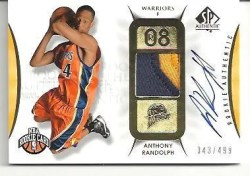 2008-09 Sp Authentic Anthony Randolph Auto RC