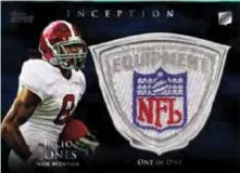 2011 Topps Inception Julio Jones NFL Patch Card