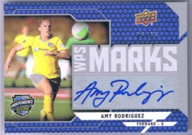 2011 Upper Deck Soccer Amy Rodriguez Autograph WPS Marks /65