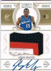 2010-11 Panini National Treasures Jordan Crawford Autograph Patch RC Card