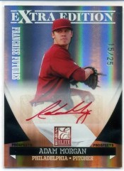 2011 Donruss Elite EEE Adam Morgan Red Ink Autograph /25