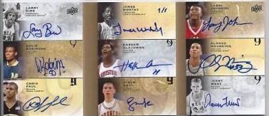 2011 UD All-Time Greats 9 Book Card Autograph