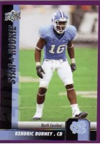 2011 Upper Deck KENDRIC BURNEY Rookie RC #143