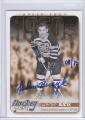 2011-12 UD Series 1 Heroes Autograph Johnny Bucyk