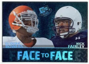 2011 Press Pass Face To Face Football Insert
