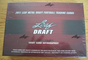 2011 Leaf Metal Draft Football Box