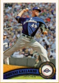 2011 Topps Yovani Gallardo Sparkle Sp Variation