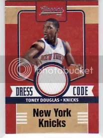 2010-11 Panini Classics Toney Douglas Dress Code Jersey Card