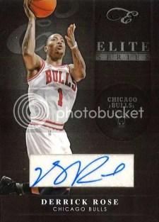 2010-11 Panini Elite Black Box Series Derrick Rose Autograph Card