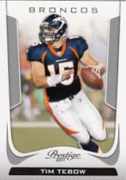 2011 Panini Prestige Tim Tebow Base Card
