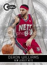 10-11 Certified Deron Williams Nets Panini Card