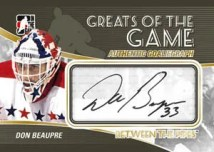 2010/11 ITG Between the Pipes Greats of the Game GoalieGraph Don Beaupre Auto Card