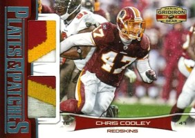 2011 Panini Gridiron Gear Plates and Patches Chris Cooley