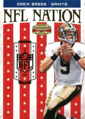 2011 Panini Gridiron Gear NFL Nation Drew Brees Insert Card
